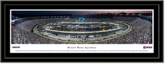 Bristol Motor Speedway Race Aerial Framed Panoramic Picture