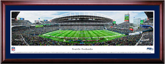 Seattle Seahawks CenturyLink Field Framed Panoramic Picture Single Mat and Cherry Frame