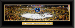 Pittsburgh Penguins 2017 Stanley Cup Framed Panoramic Picture