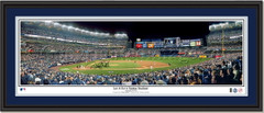 Jeter's Last At Bat Signed Framed Panoramic Picture
