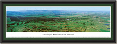 Gleneagles Hotel and Golf Courses Framed Panoramic Picture