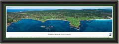 Pebble Beach Golf Links Framed Panoramic Picture