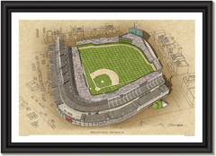 Chicago Cubs Wrigley Field Large Illustration