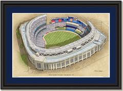 Yankee Stadium Large Illustration Home of New York Yankees