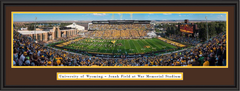 Wyoming Cowboys Football Framed Panoramic Print
