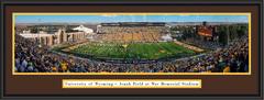 Wyoming Cowboys Football Framed Panoramic Print