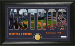 "Houston Astros ""Silhouette"" Panoramic Bronze Coin Photo Mint"