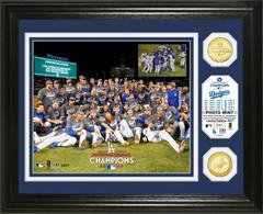 Los Angeles Dodgers 2017 NL Champions Celebration Bronze Coin Photo Mint