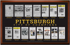 Pittsburgh - City of Champions Framed Poster