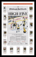 2017 Pittsburgh Penguins Championship Front Page Framed Poster