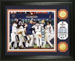 Houston Astros 2017 AL Champions Celebration Bronze Coin Photo Mint