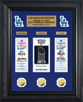 "Los Angeles Dodgers 2017 NL Champions ""Road to the World Series"" Deluxe Gold Coin Photo Mint"