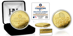 Houston Astros 2017 World Series Champions Gold Mint Coin