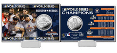 "Houston Astros 2017 World Series Champions ""Celebration"" Silver Coin Card"