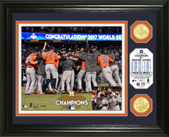 "Houston Astros 2017 World Series Champions ""Celebration"" Bronze Coin Photo Mint"