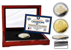 Houston Astros 2017 World Series Champions Deluxe Gold Coin & Ticket Collection