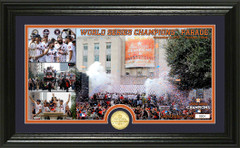 "Houston Astros 2017 World Series Champions ""Parade"" Panoramic Bronze Coin Photo Mint"