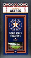 Houston Astros 2017 World Series Champions Framed Championship Banner