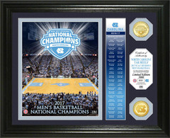 "University of North Carolina 2017 NCAA Men's Basketball National Champions ""Banner"" Bronze Coin Photo Mint"