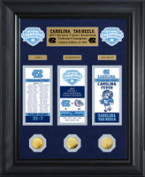 University of North Carolina 2017 NCAA Men's Basketball National Champions Deluxe Gold Coin Ticket Collection