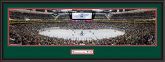 Minnesota Wild Xcel Energy Center Framed Panoramic Picture