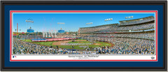 2017 World Series Houston Astros and Los Angeles Dodgers Game One Opening Ceremony Double Matting and Black Frame