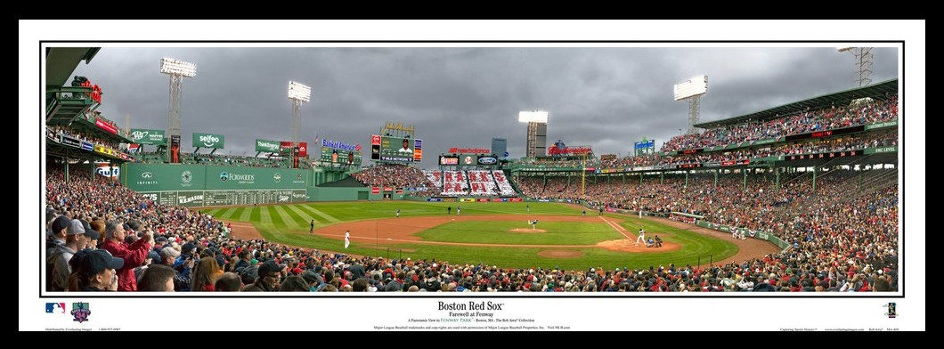 Boston Red Sox Big Papi Farewell at Fenway Framed Panoramic Picture