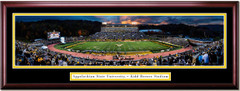 Appalachian State Mountaineers Football Kidd Brewer Stadium Framed Panoramic Picure