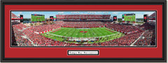 Tampa Bay Buccaneers Raymond James Stadium Framed Panoramic Picture Double Mat and Black Frame