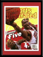 "Michael Jordan of the Bulls ""Gimme Five"" Framed Picture"