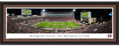 Mississippi State Bulldogs Football Davis Wade Stadium Framed Panoramic Picture