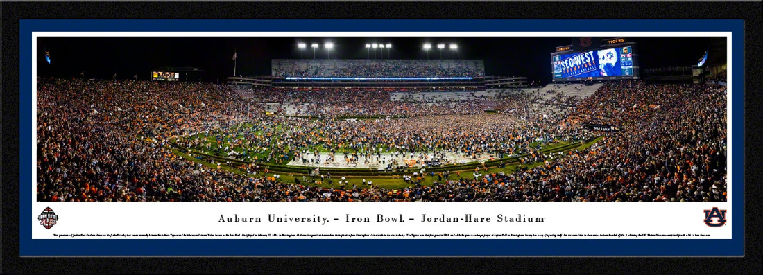 Auburn Tigers Football 2017 Iron Bowl Framed Panoramic Picture