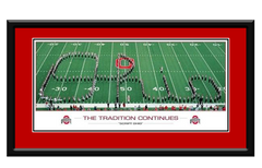 "Ohio State Buckeyes ""Script Ohio"" Framed Picture"