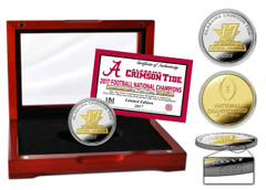 Alabama Crimson Tide 2017 Football National Champions Two-Tone Mint Coin