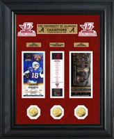 Alabama 2017 Football National Champions Deluxe Gold Coin Ticket Collection