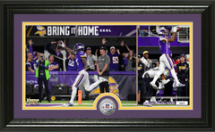 "Stefon Diggs ""Miracle in Minnesota"" Silver Victory Coin Pano Photo Mint"