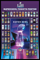 NFL 2018 Super Bowl Tickets Framed Poster