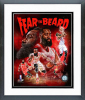 "James Harden ""Fear The Beard"" Framed Composition"