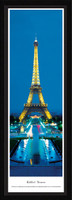Eiffel Tower at Twilight Framed Panoramic Picture