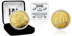 Philadelphia Eagles Super Bowl 52 Champions Gold Mint Coin