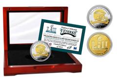 Philadelphia Eagles Super Bowl 52 Champions Two-Tone Mint Coin