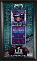 Philadelphia Eagles Super Bowl 52 Champions Signature Ticket Frame