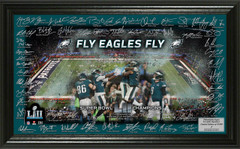 Philadelphia Eagles Super Bowl 52 Champions Signature Grid Frame