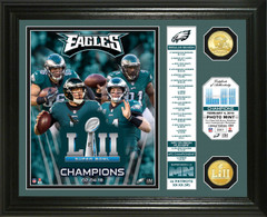 Philadelphia Eagles Super Bowl 52 Champions Banner Bronze Coin Photo Mint