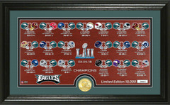 "Philadelphia Eagles Super Bowl 52 Champions ""Match Up"" Photo Mint"