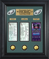 Philadelphia Eagles Road to Super Bowl 52 Deluxe Gold Coin & Ticket Collection