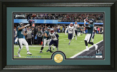 "Nick Foles ""4th and 1"" TD Catch silver coin Photo Mint"
