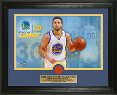 Stephen Curry Game-Used Basketball Photo Mint