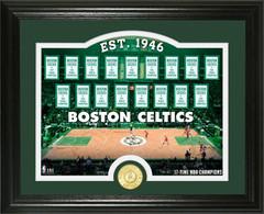 "Boston Celtics ""Court"" Bronze Coin Photo Mint"