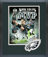 Philadelphia Eagles Nick Foles Celebration Framed Photo
